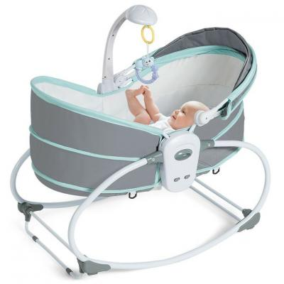 Generic 5-in-1 Rocker Bassinet With Vibration Unit - Gray In Gre